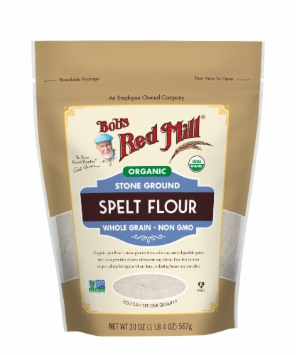 Bob's Red Mill Organic Stone Ground Spelt Flour Perspective: front