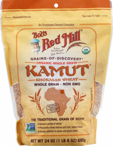 Bob's Red Mill Organic Whole Grain Kamut Khorasan Wheat Perspective: front