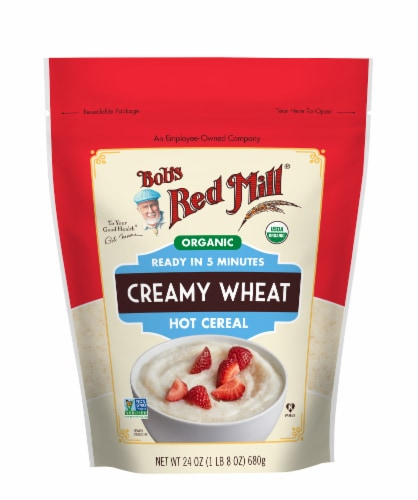 Bob's Red Mill Organic Creamy Wheat Hot Cereal Perspective: front