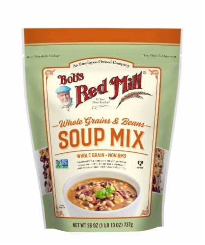 Bob's Red Mill Whole Grains & Beans Soup Mix Perspective: front
