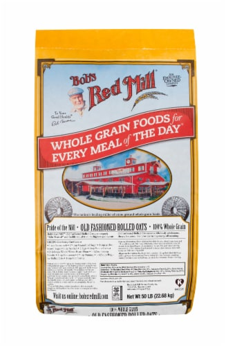 Bob's Red Mill Old Fashioned Regular Rolled Oats Perspective: front