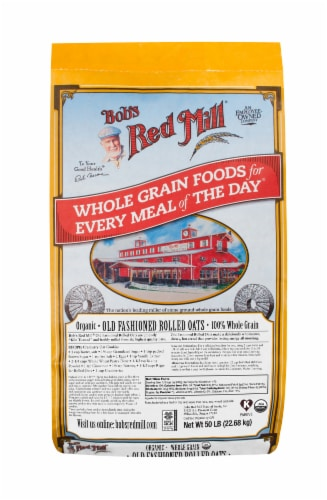 Bob's Red Mill Organic Old Fashioned Regular Rolled Oats Perspective: front