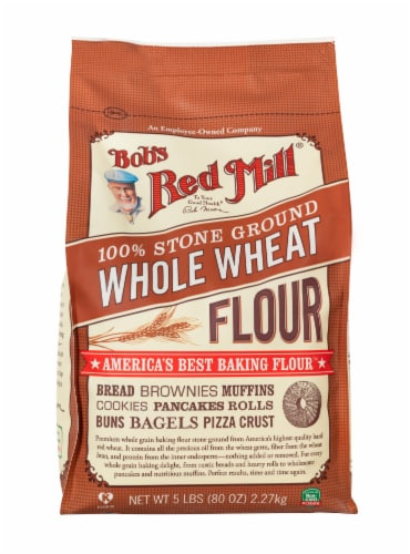 Bob's Red Mill 100% Stone Ground Whole Wheat Flour Perspective: front