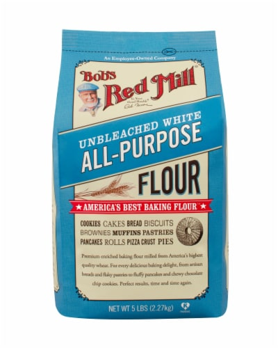 Bob's Red Mill Unbleached White Flour Perspective: front