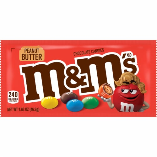 M&M's Peanut Butter Chocolate Candies Perspective: front