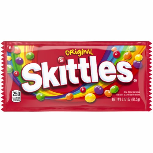 Skittles Original Chewy Summer Candy Single Pack Perspective: front
