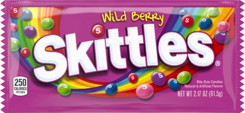 Skittles Wild Berry Bite Size Candy Perspective: front