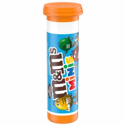 M&Ms Milk Chocolate Minis Tube Perspective: front