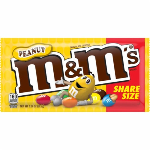 M&M's Peanut Chocolate Candy Sharing Size Perspective: front