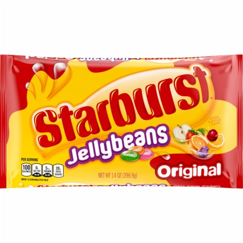 STARBURST Original Jelly Beans Chewy Easter Candy Bag Perspective: front