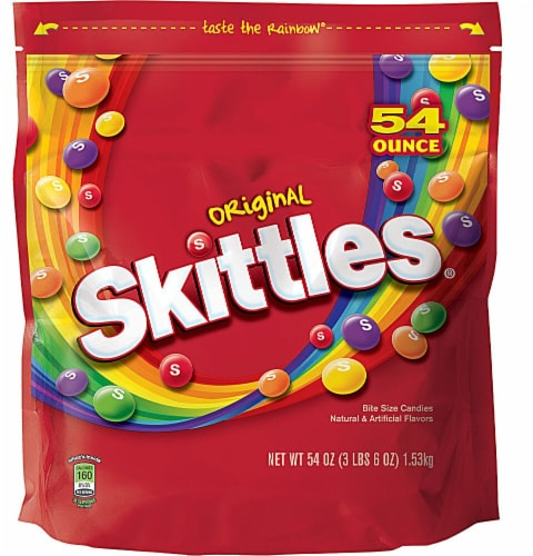 Skittles Original Fruit Flavor Candy Perspective: front