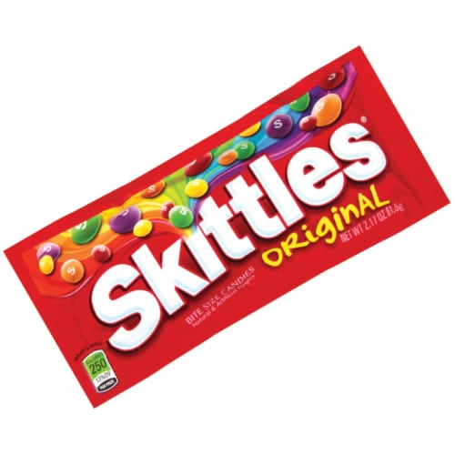 Skittles Assorted Fruit Flavors 2.17 Oz. Candy 1160 Pack of 36 Perspective: front