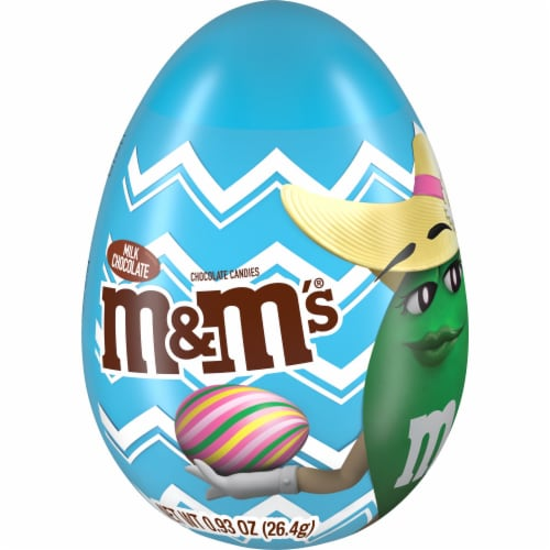 M&M'S Milk Chocolate Easter Candy in Easter Egg Perspective: front