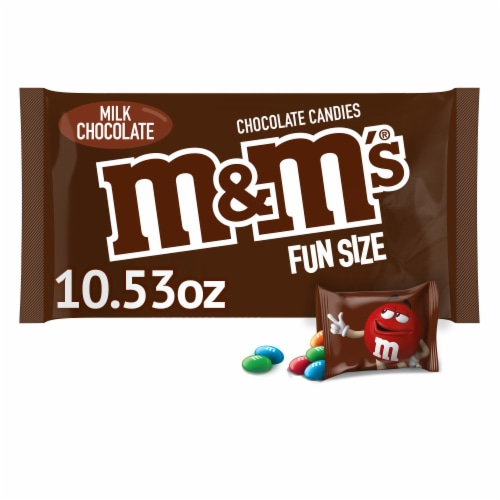M&M's Milk Chocolate Fun Size Bags Perspective: front