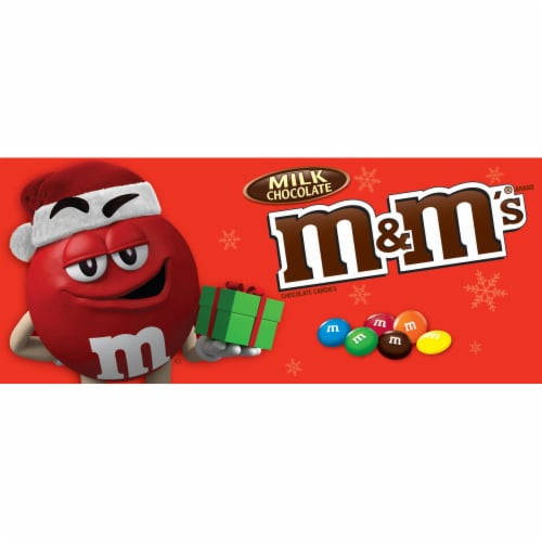 M&M'S Holiday Milk Chocolate Christmas Candy Gift Boxes Perspective: front