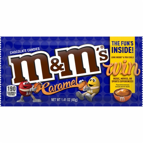 M&M's Caramel Chocolate Candies Perspective: front