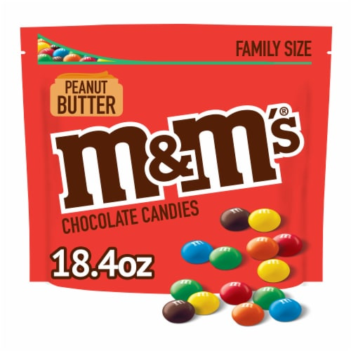 M&M'S Peanut Butter Chocolate Candies Bag Perspective: front