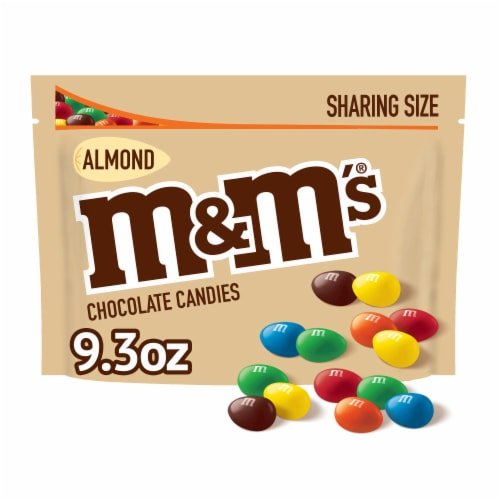 M&M'S Almond Chocolate Candy Sharing Size Bag Perspective: front