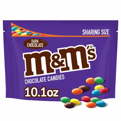 M&M's Dark Chocolate Candies Sharing Size Perspective: front
