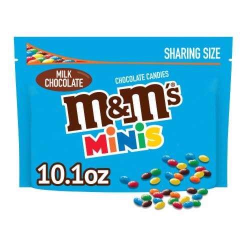 M&M'S Milk Chocolate MINIS Candy Sharing Size Bag, 10.1-Ounce Perspective: front
