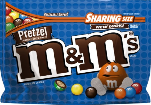 M&M's Sharing Size Pretzel Chocolate Candies Perspective: front
