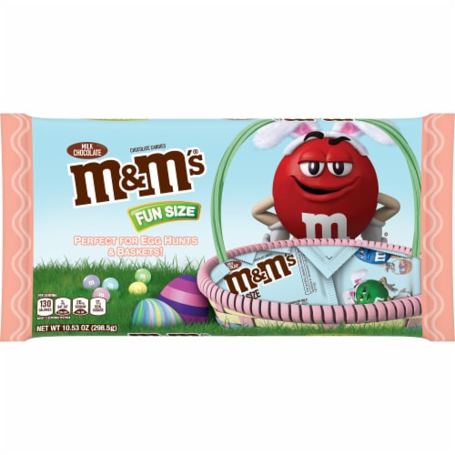 M&M'S Milk Chocolate Easter Candy Fun Size 10.53-Ounce Bag Perspective: front