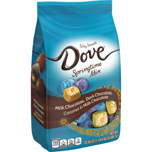 DOVE Springtime Assorted Chocolate Candy Mix Perspective: front