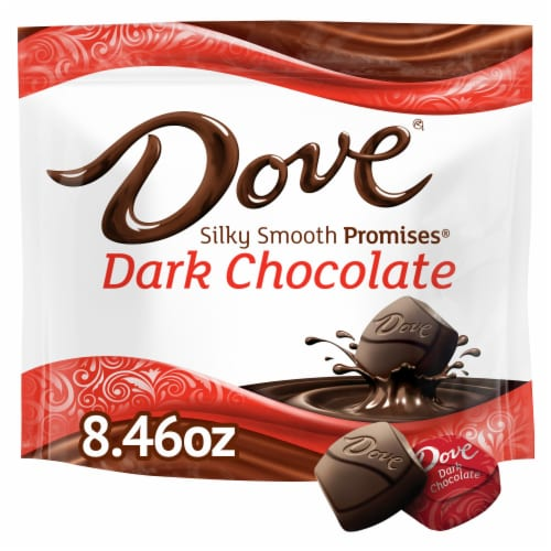 DOVE PROMISES Dark Chocolate Candy Bag Perspective: front