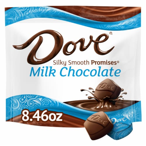 DOVE PROMISES Milk Chocolate Candy Bag Perspective: front