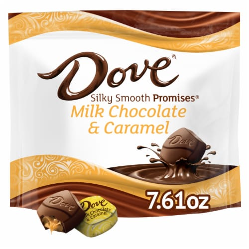 Dove Chocolate Promises Milk Chocolate & Caramel Candy Perspective: front