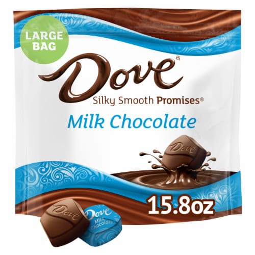 Dove Promises Silky Smooth Milk Chocolate Candy Perspective: front
