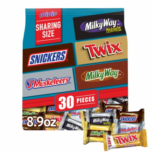 Mars Minis Favorites Candy Bar Variety Mix Perspective: front