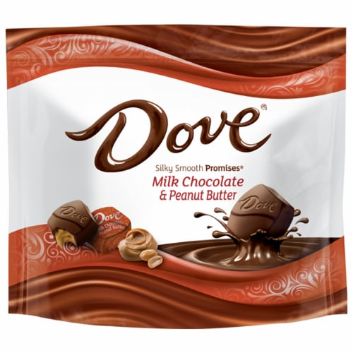 Dove Promises Peanut Butter and Milk Chocolate Candy Perspective: front