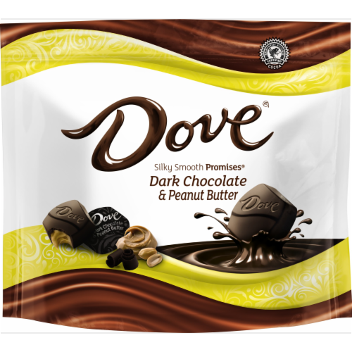 Dove Promises Peanut Butter And Dark Chocolate Candy Perspective: front