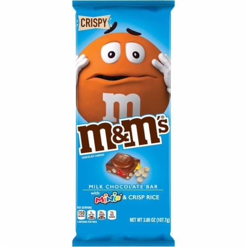 M&M's Minis & Crisp Rice Milk Chocolate Bar Perspective: front
