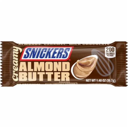 Snickers Creamy Almond Butter Squares Perspective: front