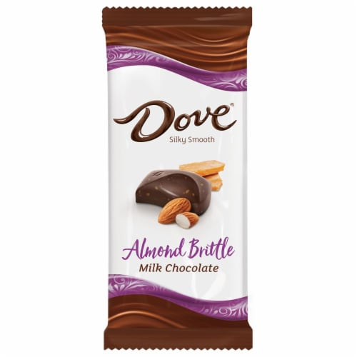 Dove Chocolate Almond Brittle Milk Chocolate Bar Perspective: front