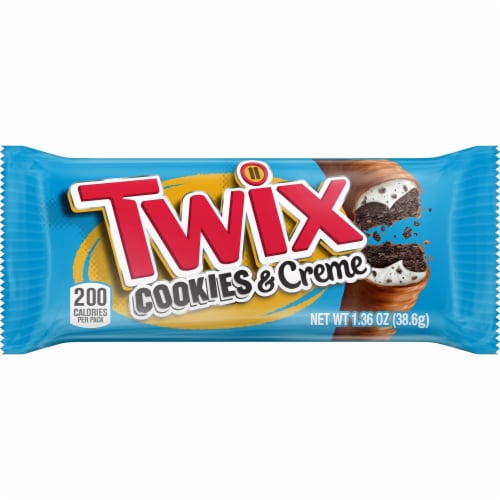 Twix Cookies & Creme Candy Bar Perspective: front