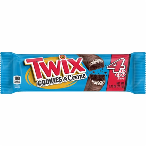 Twix Cookies & Creme Chocolate Candy Bars Perspective: front