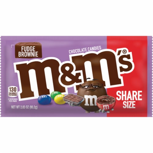 M&M's Fudge Brownie Chocolate Candies Share Size Perspective: front
