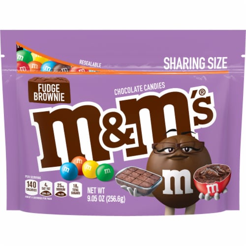 M&M's Fudge Brownie Chocolate Candies Perspective: front