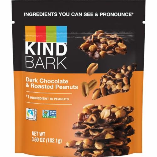 KIND Dark Chocolate & Roasted Peanuts Bark Perspective: front