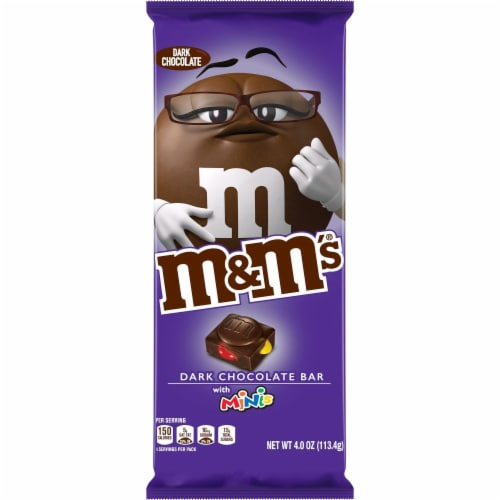 M&M's Dark Chocolate Bar with Minis Perspective: front