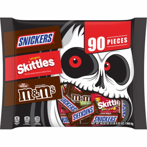 Mars Snickers Skittles & M&M's Candy Variety Pack Perspective: front