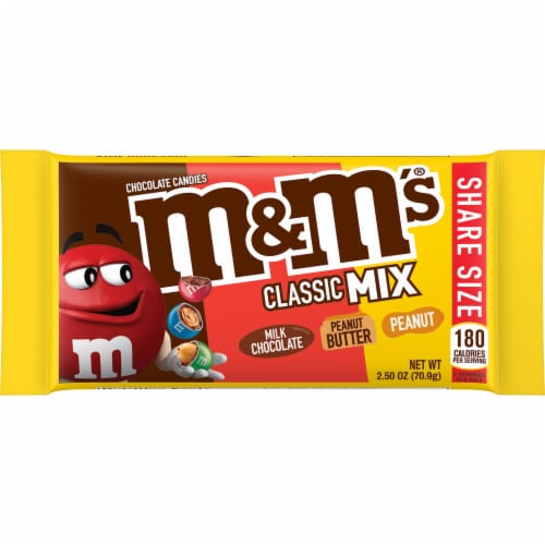 M&M's Classic Mix Share Size Chocolate Candies Perspective: front
