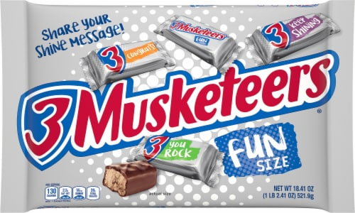 Mars Fun Size 3 Musketeers Bag Perspective: front