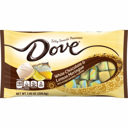 DOVE PROMISES White Chocolate & Lemon Meringue Easter Candy Bag Perspective: front