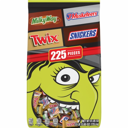 Mars Minis Mixed Chocolate Halloween Candy Variety Bag Perspective: front