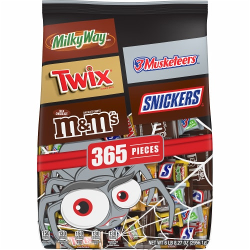 Mars Mixed Chocolate Halloween Candy Variety Bag Perspective: front