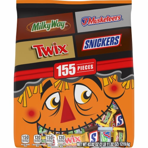 Mars Chocolate Halloween Candy Variety Bag Perspective: front
